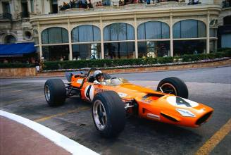 Bruce Mclaren at Monaco, 1969